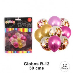 Globo Candy Deco Pink Gold