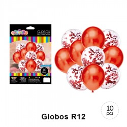 Globo Bouquet Chrome Red